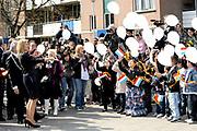 Princess Maxima at the opening of the new building of the Foundation Fakonahof in The Hague. This foundation was founded by the residents of a deprived area with the aim of improving living conditions in the neighborhood.<br /> <br /> <br /> Prinses Maxima bij de opening van het nieuwe gebouw van de Stichting Fakonahof in Den Haag. Deze stichting is opgericht door de bewoners van de Haagse Schilderwijk met als doel de verbetering van de leefomstandigheden in de buurt.