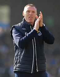 Bristol Rovers manager Graham Coughlan applauds fans prior to kick-off - Mandatory by-line: Nizaam Jones/JMP - 30/03/2019 - FOOTBALL - Memorial Stadium - Bristol, England - Bristol Rovers v Luton Town - Sky Bet League One