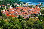 The town of Ston from the Great Wall, Ston, Dalmatian Coast, Croatia