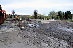 © Licensed to London News Pictures.18/11/2017.<br /> Orpington, UK.<br /> The infamous Waste4fuel rubbish site in Orpington is due to be totally clear of waste on Monday. Work began to clear the site from 27.000 tons of waste a year ago at Cornwall Drive, Now the site has about 27 tons of rubbish left to clear. Altogether the clearance cost of the waste mountain has come to around £4.5 million with most of the money coming from government and the Enviroment Agency.<br /> Photo credit: Grant Falvey/LNP