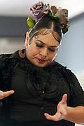 Flamenco dancer Angelina Ramirez during rehearsal in her dance studio in Downtown Phoenix on August 12, 2016. Ramirez is one of the owners of Flamenco Por La Vida dance studio. Singer Olivia Rojas and Flamenco dancer Angelina Ramirez co-owners of Flamenco Por La Vida dance studio in Downtown Phoenix, AZ.