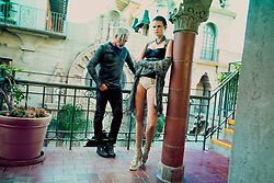 Fashion Editorial Le Rêve The Dream with models Lauren Trotter and Todd Gordon. Shot at The Mission Inn Hotel and Spa in Riverside California. Stylist Melissa Laskin, Makeup Artist Crystal Tan, Hair Stylist  Candace Bossendorfer. Published in Prestige International Magazine PIM 18. Photography and copyright Amyn Nasser. All Rights Reserved.