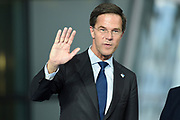 Meeting of NATO Heads of State and/or Government<br /> Brussels, Belgium -  Official portrait in the Agora<br /> <br /> On the photo:   Dutch Prime Minister Mark Rutte