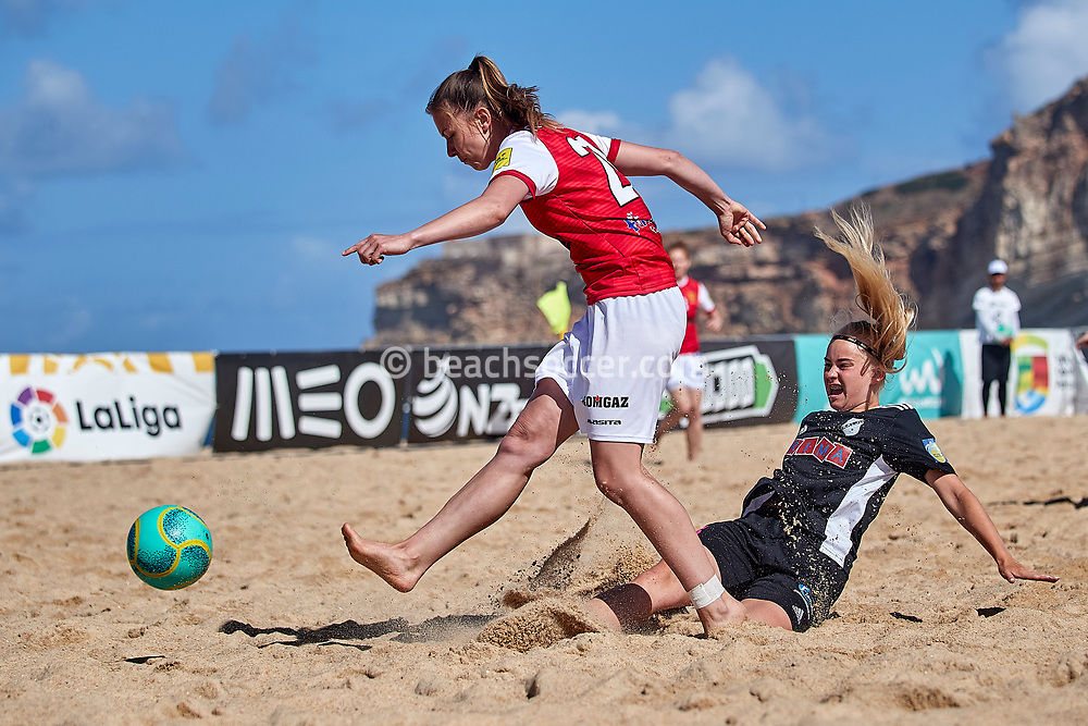 NAZARE, PORTUGAL - JUNE 7: Patricia Salwa of Red Devils Ladies during the Euro Winners Cup Nazaré 2019 at Nazaré Beach on June 7, 2019 in Nazaré, Portugal. (Photo by Jose M. Alvarez)