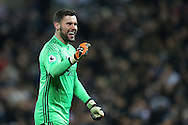 West Bromwich Albion goalkeeper Ben Foster celebrates after his teammate Salomon Rondon scores the 1st goal. Premier league match, West Bromwich Albion v Swansea city at the Hawthorns stadium in West Bromwich, Midlands on Wednesday 14th December 2016. pic by Andrew Orchard, Andrew Orchard sports photography.