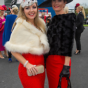 08.10.17.            <br /> Pictured at Limerick Racecourse for the  Keanes Most Stylish Lady competition were, Mairead Twomey and Linda Twomey. Picture: Alan Place