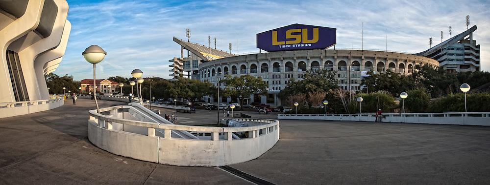 Tiger Stadium at the Louisiana State University campus in Baton Rouge, La.
