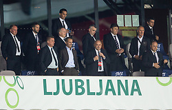 Aleksander Ceferin, president of UEFA and Radenko Mijatovic, president of NZS during the UEFA Nations League C Group 3 match between Slovenia and Moldova at Stadion Stozice, on September 6th, 2020. Photo by Vid Ponikvar / Sportida