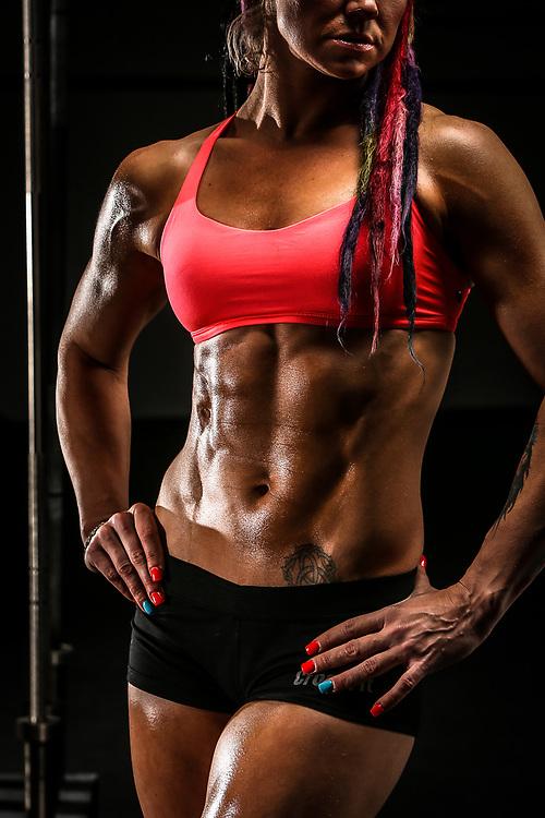 Portrait of a female crossfit athlete.