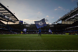 8 May 2017 - Premier League Football - Chelsea v Middlesbrough<br /> A general view (GV) of Stamford Bridge as Chelsea flags are waved on the pitch prior to kick off<br /> Photo: Charlotte Wilson