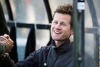 BLOEMENDAAL - HOCKEY - coach Lucas Judge (Oranje-Rood)  tijdens de competitie hoofdklasse hockeywedstrijd Bloemendaal -ORANJE-ROOD (4-1)  COPYRIGHT KOEN SUYK