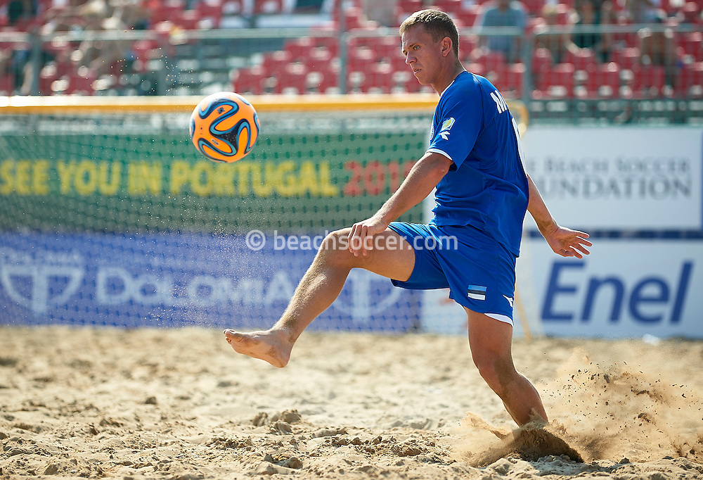 JESOLO, ITALY- SEPTEMBER 05: FIFA Beach Soccer Qualifier Europe World Cup 2015 at Spiaggia del Faro on September 05, 2015 in Jesolo, Italy. (Photo by Manuel Queimadelos)