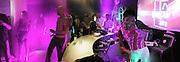 Sonique d.j.ing. Jaguar party. Casa Batllo, Barcelona. 27 April 2001. © Copyright Photograph by Dafydd Jones 66 Stockwell Park Rd. London SW9 0DA Tel 020 7733 0108 www.dafjones.com