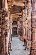 Hindu Columns at Qutb Minar in Delhi India