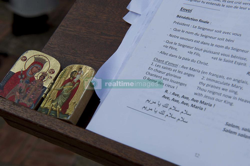 Algerie Oran le08 12 2018 Ambiance avant la la béatification des moines C'est la première fois que l'Eglise procédera à la béatification de martyrs en terre musulmane