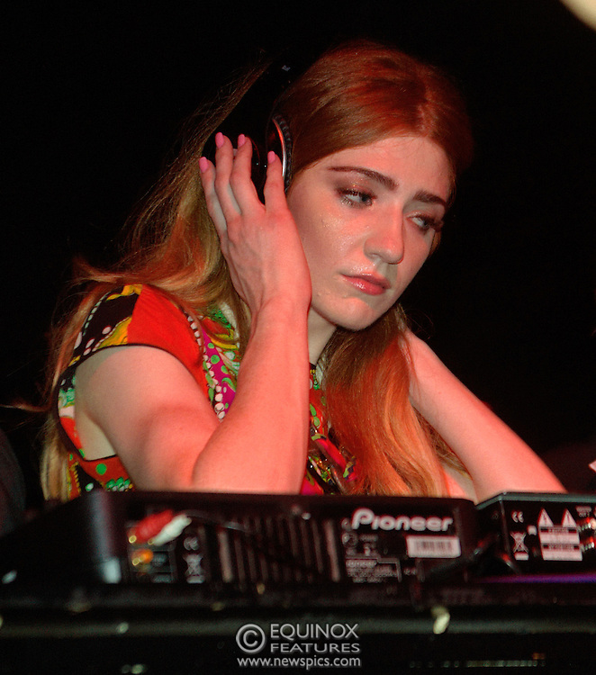 London, United Kingdom - 5 June 2011.Girls Aloud band member Nicola Roberts DJ'ing to launch her new single Beat Of My Drum at the Hoxton Square Bar and Kitchen, Shoreditch, London, England, UK. .Copyright: ©2011 Equinox Licensing Ltd. +448700 780000.Contact: Equinox Features.Date Taken: 20110605.Time Taken: 005252+0000.www.newspics.com