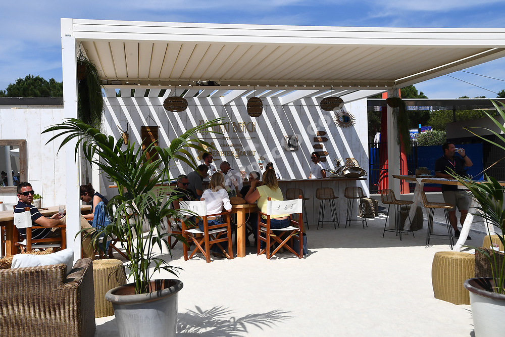 Paddock bar before the 2019 French Grand Prix at Paul Ricard. Photo: Grand Prix Photo