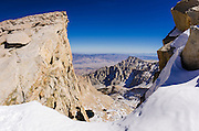 The Owens Valley from the Mount Whitney trail, Sequoia National Park, Sierra Nevada Mountains, California USA