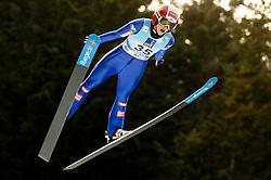 Eva Pinkelnig of Austria soaring through the air during 1st Round at Day 1 of World Cup Ski Jumping Ladies Ljubno 2019, on February 8, 2019 in Ljubno ob Savinji, Slovenia. Photo by Matic Ritonja / Sportida