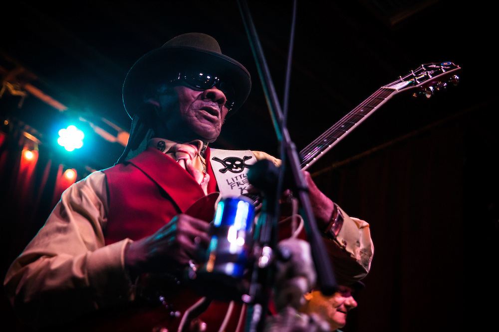 Little Freddie King Performing at D.B.A. on Frenchman Street in New Orleans. Little Freddie King is an American Delta blues guitarist from McComb Mississippi.