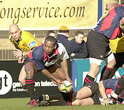 Wycombe, Buckinghamshire, 29th February 2004, Adams Park, [Mandatory Credit; Peter Spurrier/Intersport Images],<br /> 29/02/2004  -  Powergen  Cup - London Wasps v Pertemps Bees <br /> Bees Nick Baxter