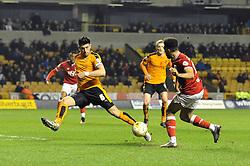 Scott Golbourne of Bristol City crosses the ball - Mandatory byline: Dougie Allward/JMP - 08/03/2016 - FOOTBALL - Molineux Stadium - Wolverhampton, England - Wolves v Bristol City - Sky Bet Championship