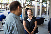 Jacqueline Faylor of Samsara networks during SVBJ's BizMix presented by SWENSON at The Grad in Downtown San Jose, California, on July 31, 2019. (Stan Olszewski for Silicon Valley Business Journal)