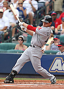 ATLANTA - JUNE 28:  Center fielder Jacoby Ellsbury #46 of the Boston Red Sox follows through on a swing during the game against the Atlanta Braves at Turner Field on June 28, 2009 in Atlanta, Georgia.  The Braves beat the Red Sox 2-1.  (Photo by Mike Zarrilli/Getty Images)