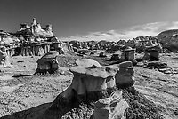 Rock formations, Bisti Badlands, Bisti/De-Na-Zin Wilderness, New Mexico USA.