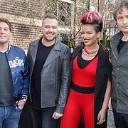 NLD/Amsterdam/20160314 - Perspresentatie Idols 2016, Martijn Krabbe, Jamai Loman, Eva Simons en Ronald Molendijk