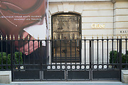 """March, 27th 2020 - Paris, Ile-de-France, France: Paris under confinement, Chloe, Avenue Montaigne area of high fashion, beauty, accessories, haute couture, all shops closed, in 8th arrondissement, and all public spaces virtually empty to stop the spread of the Coronavirus, during the eleventh day of near total lockdown imposed in France. The President of France, Emmanuel Macron, said the citizens must stay at home for at least 15 days, that has been extended. He said """"We are at war, a public health war, certainly but we are at war, against an invisible and elusive enemy"""". All journeys outside the home unless justified for essential professional or health reasons are outlawed. Anyone flouting the new regulations is fined. Nigel Dickinson"""