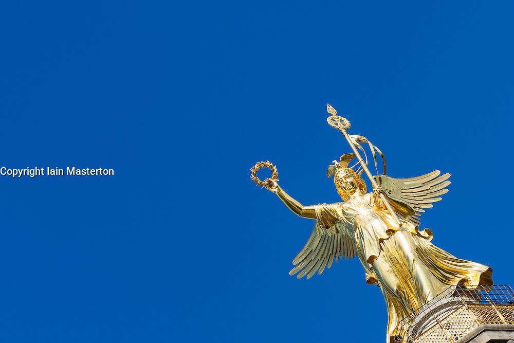 Victory Column or Siegessäule statue in Tiergarten Berlin Germany