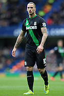 Marko Arnautovic of Stoke City looks on. Barclays Premier league match, Chelsea v Stoke city at Stamford Bridge in London on Saturday 5th March 2016.<br /> pic by John Patrick Fletcher, Andrew Orchard sports photography.