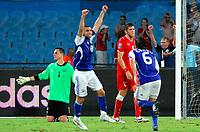 Fotball , 6. september 2008 , VM kvalifisering , Israel - Sveits<br /> Torhueter Diego Benaglio (SUI) beim Ausgleichstreffer zum 2:2<br /> Norway only