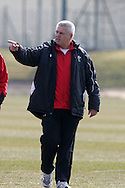 Wales coach Warren Gatland.  Wales rugby team training at the Vale of Glamorgan, South Wales ahead of their six nations match in Ireland. on Thurs 11th March 2010. pic by Andrew Orchard, Andrew Orchard sports photography,