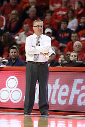 08 February 2018:  Barry Hinson during a College mens basketball game between the Southern Illinois Salukis and Illinois State Redbirds in Redbird Arena, Normal IL