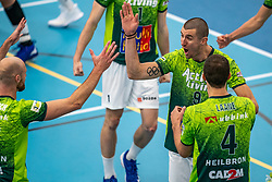 Adam White #9 of Orion in action during the supercup final between Amysoft Lycurgus - Active Living Orion on October 04, 2020 in Van der Knaaphal, Ede