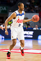 Real Madrid's player Anthony Randolph during match of Liga Endesa at Barclaycard Center in Madrid. September 30, Spain. 2016. (ALTERPHOTOS/BorjaB.Hojas)