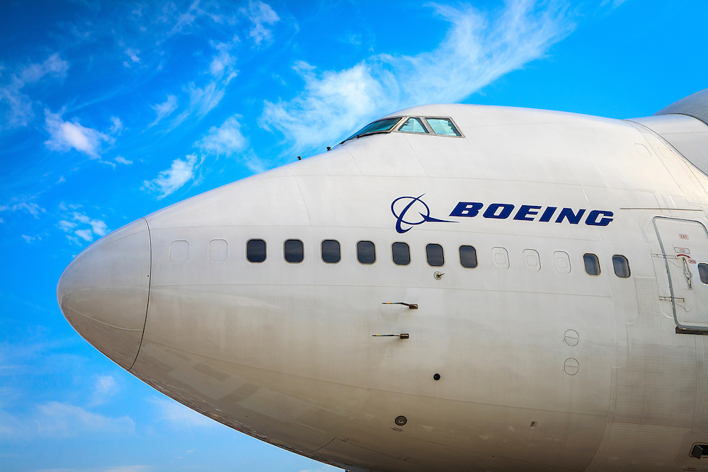 "Boeing ""Dreamlifter"", on display during Airventure 2008, in Oshkosh, Wisconsin.  <br />