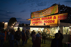 Busy outdoor cafe; evening; serving food at the Cropredy Festival  Fairport's Cropredy Convention  2005