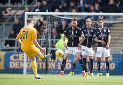 Falkirk wall. <br /> Falkirk 1 v 0 Morton, Scottish Championship game  played 1/5/2016 at The Falkirk Stadium.