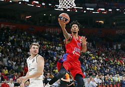 BELGRADE (SERBIA), May 18, 2018  CSKA Moscow's Will Clyburn (R) goes for a lay up past Real Madrid's Luka Doncic during Euroleague Final 4 semi final basketball match between CSKA Moscow and Real Madrid in Belgrade, Serbia on May 18, 2018. Real Madrid won 92-83  (Credit Image: © Predrag Milosavljevic/Xinhua via ZUMA Wire)