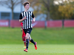 KIRKBY, ENGLAND - Saturday, October 31, 2020: Newcastle United's substitute Joe White during the Under-18 Premier League match between Liverpool FC Under-18's and Newcastle United FC Under-18's at the Liverpool Academy. Liverpool won 4-1. (Pic by David Rawcliffe/Propaganda)