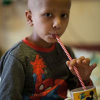 Murtada Dweik, 6, from Hebron, in the Paediatric Chemotherapy Department of the Augusta Victoria Hospital in Jerusalem. The Augusta Victoria Hospital is located on the southern side of Mount of Olives in East Jerusalem and is run by the Lutheran World Federation, LWF.