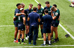 London Irish huddle - Mandatory by-line: Robbie Stephenson/JMP - 29/07/2017 - RUGBY - Franklin's Gardens - Northampton, England - Northampton v London Irish - Singha Premiership Rugby 7s