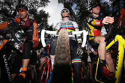 February 10, 2018 - Lille, BELGIUM - Belgian Eli Iserbyt pictured at the start of the U23 race of the Krawatencross cyclocross in Lille, the eighth and last stage in the DVV Verzekeringen Trofee Cyclocross competition, Saturday 10 February 2018. BELGA PHOTO DAVID STOCKMAN (Credit Image: © David Stockman/Belga via ZUMA Press)