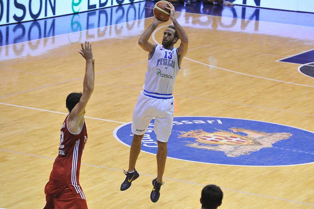 Cagliari, 21/08/2012<br /> Basket, Eurobasket 2013 Qualifying Round<br /> Italia - Turchia<br /> Nella foto: Luigi Datome<br /> Foto Ciamillo