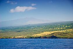 Hualalai volcanic mountain, 2,523m (8,271ft) above sea level, last historical eruption in 1800-1801, off Kona Coast, Big Island, Hawaii, Pacific Ocean