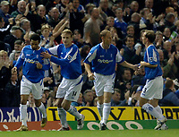 Photo: Glyn Thomas.<br />Birmingham City v Norwich. Carling Cup.<br />26/10/2005.<br />Birmingham's Jermaine Pennant (L) celebrates his first half goal.