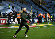 Coventry City fans invade the pitch holding up play during the English League One match at the Rioch Arena Stadium, Coventry. Picture date: December 15th, 2016. Pic Simon Bellis/Sportimage